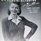 Vintage Knitting Pattern Sweaters Classics for Knitters Cardigans, Pullovers, Jacket styles