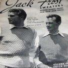 Men's Sweater, Scarves, Vest ,Cardigans Patterns 1947 Jack Frost Vintage Knitting Pattern