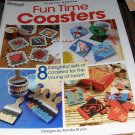 Plastic Canvas Coasters Pattern Kites, Feet in Flip Flops, Paint Brushes, Stamps,