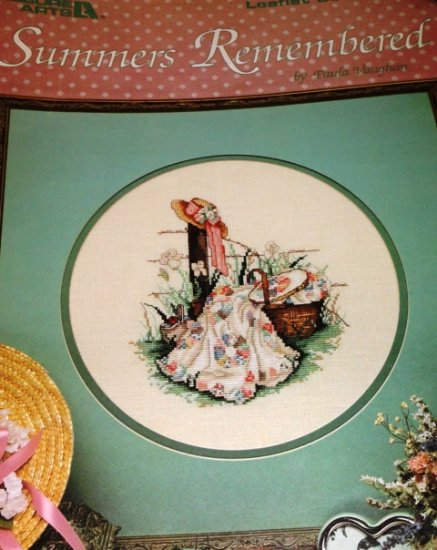 Paula Vaughan Cross Stitch Pattern Summers Remembered Quilting Quilter Leisure Arts 392