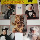 McCall's Toddler Baby Halloween Costume Size 2, Lion, Elephant, Panda, Skunk, Monkey, No. MP420