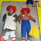 McCall's 9494 Raggedy Ann Raggedy Andy Halloween Costume Child Size 6 8