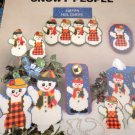 Plastic Canvas Pattern Snowmen Snowy People Tissue Cover, Door Knob Cover, Switchplate Cover
