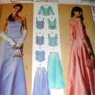 Sewing Pattern Prom Evening Gown Lined Tops and Skirts Size 12 14 16 McCall's 3571