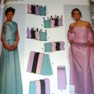 Sewing Pattern Plus Size Prom Evening Gown Wrap, Tops Skirts Size 14 16 18 20 Simplicity 9466