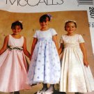 Sewing Pattern Flower Little Girl Formal Dress up Gown Size 3,4,5 McCall's 2607