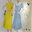 40's Vintage Sewing Pattern Butterick Capelet Collared At Home Day Dress Size 16 bust 34 5296