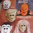 Plastic Canvas Halloween Masks Pattern Vampire, Skeleton, Frankenstein Monsters