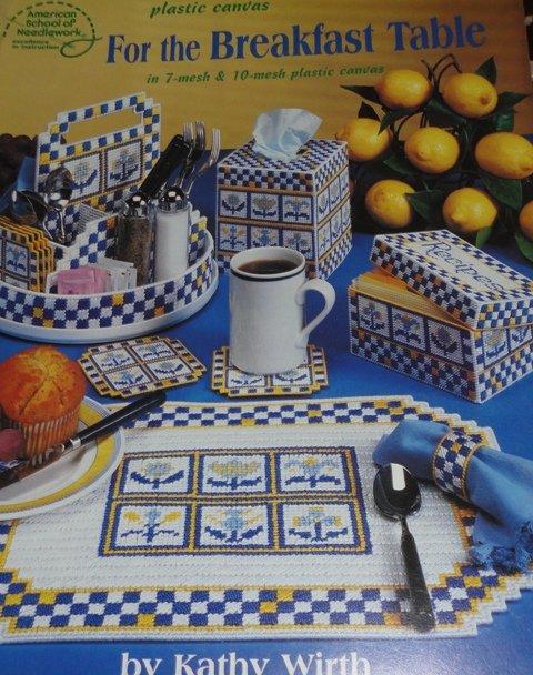 Kitchen Breakfast Nook Plastic Canvas patterns American School of Needlework