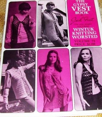 Gypsy Retro Hippie VESTS crochet knitting patterns vintage Boho designs
