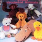 Cuddley Crocheted Animals Crochet Pattern Hippo, Monkey, Lion, Dog, Bear