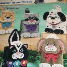 Puppy Kitty Tissue Covers Animal Plastic Canvas patterns Skunk, Dog, Cat, Raccoon, Bunny Rabbit