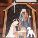 Door Hanging Nativity Holy Night in Plastic Canvas Christmas Holiday Pattern   Leisure Arts 1319
