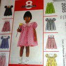 Girl's Sundress 8 looks in one pattern McCall's 2095 Size 2,3,4