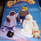 Doll Baby Clothes to knit and crochet Fibre Craft Pattern
