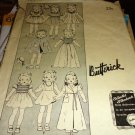 Butterick 454 Vintage 1930's Doll Clothes Sewing Pattern 16 inch doll number 454
