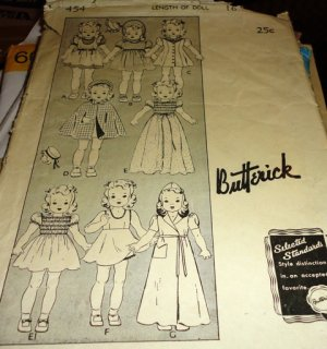 Cabbage Patch Kid Clothes Pattern Butterick #6509 - 1984