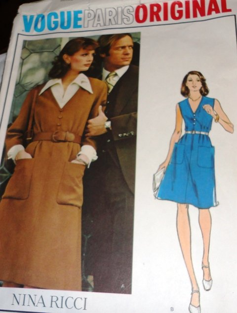 Sewing Pattern Vogue 1050 Nina Ricci 'Vogue Paris Original'. Misses' Dress and Blouse (wiki)