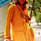 Wrap-Around Bulkies Cardigans and Coats Columbia Minerva Sweater Pattern
