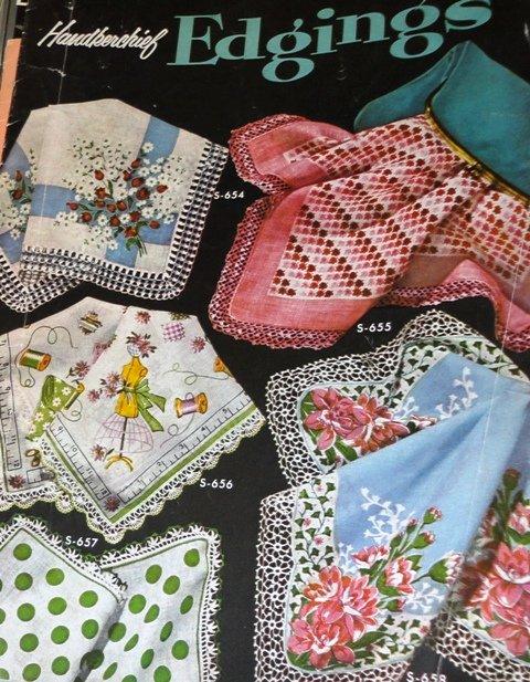 Handkerchief Edgings Vintage Crochet Pattern Coats and Clark's Book 311