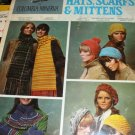 Hats Mittens Scarfs Knitting Crochet Pattern  Columbia Minerva Fashion Ready to Make