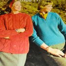 Vintage Knitting Pattern for Classic Sweaters in Columbia Minerva's College Sweaters Book 746