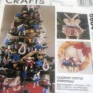 Country Critter Holiday Sewing Patterns McCalls Crafts 6664 Tree Skirt Ornamants Wreath Angel