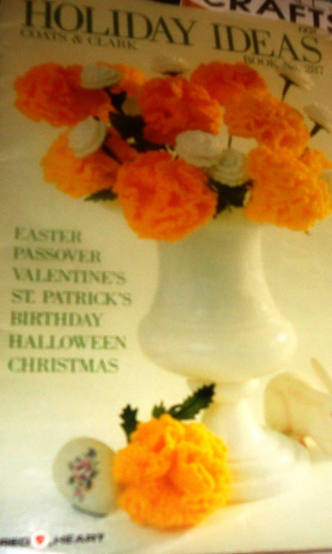 Coats & Clark Book No 287 Holiday Ideas Crochet Flowers Christmas Ball Matzah Cover
