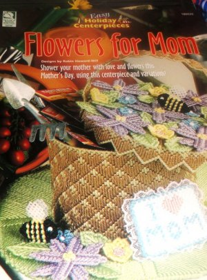 Mother's Day Plastic Canvas pattern Centerpiece Flowers for Mom