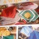 Dishcloths Crochet Pattern Leisure Arts Wash & Wipe 2546 14 styles