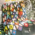 Afghan Pattern Scrap Yarn Afghans Crochet  House of White Birches Stain Glass 101131