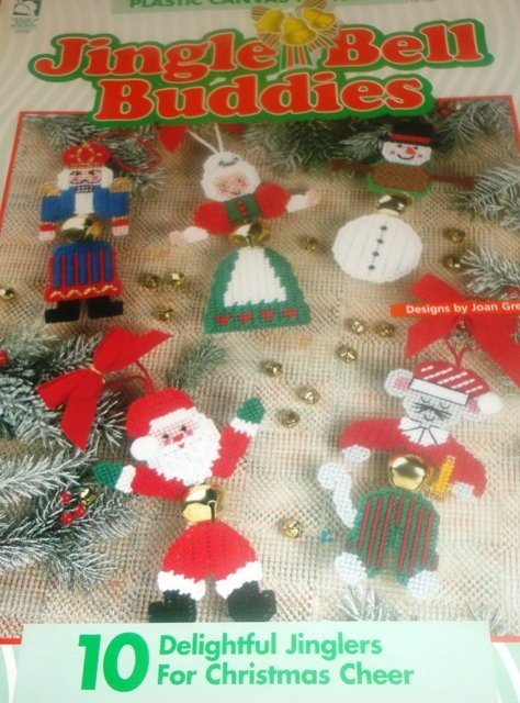 Jingle bell buddies christmas ornaments plastic canvas