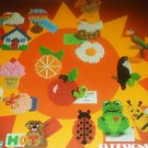 Plastic Canvas Pattern bee frog chicken parrot apple ice cream cone house magnets