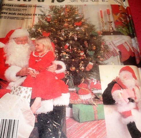 """Santa Claus Outfit Costume Sewing Pattern Bag and Doll McCall's 2289 Chest Size 38"""" 40"""" Medium"""