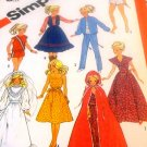 Fashion Doll Sewing Pattern Simplicity 6363 Doll clothes for Bridal Gown, Dress, Cape