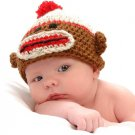 Sock Monkey Hat Crochet Pattern Instructions Baby Toddler Newborn Size to 2 years by LaStade
