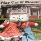 Cat Mouse Stuffed Toy Butterick 5666 Vintage Sewing Pattern  Animals