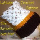 Basketball Net Hat PDF Crochet Instructions Teen Adult size LaStade-Designs PDF Pattern
