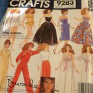 Brooke Shileds Fashion Doll Clothes Sewing Pattern McCall's 9283