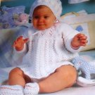 Leisure Arts 2329 Special Baby Outfits Four Knit Designs Knitting Patterns