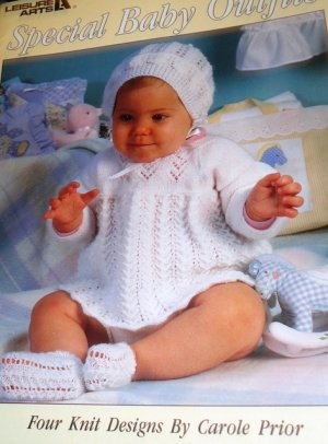 Leisure Arts Special Baby Outfits Four Knit Designs Knitting Patterns