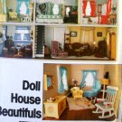 Doll House Sewing Pattern Vogue 1772 Curtains, Rugs, Tablecloth, sofa, chair ottoman, miniatures