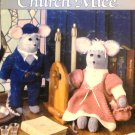 Leisure Arts Crochet Pattern Crocheted Church Mice Dolls 15""