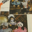 Wardrobe Clothes for stuffed bear animals  Simplicity Crafts Sewing Pattern 6743