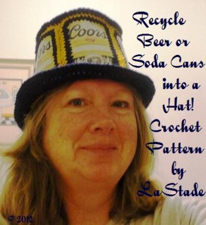 Beer Can Hat Soda Can Hat Crochet Pattern Recycle Cans into a Hat
