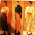 Vogue Sewing Pattern 1790 Calvin Klein Pencil Skirt, flared skirt size 12