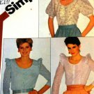 Simplicity Sewing Pattern 5537  Womens' Misses Blouses size 8