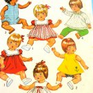"Vintage doll clothes Sewing Pattern for 12"" to 13"" Baby Doll Simplicity 5947"