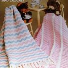 Baby Afghans to Knit and Crochet Pattern Leisure Arts 64