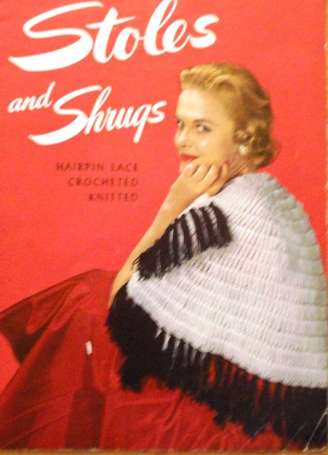 Stoles Shrugs Shawls Vintage Crochet Knitting Pattern Star Book 103